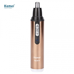 Kemei KM - 6619 Ear Nose Hair Removal Washable Rechargeable Electric Single Blade Nose Hair Trimmer as the picture