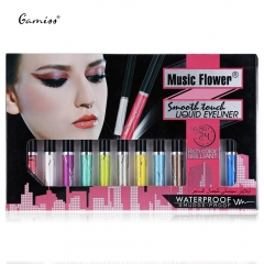 12pcs Colorful Cosmetics Waterproof Beauty Liquid Eyeliner Long Lasting Glitter Eyeliner colormix