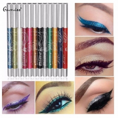 12 Colors Eyebrow Sets Fashion Auto-Rotate Professional Glitter Shadow EyeLiner Pencil Pen colormix