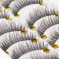10 Pairs of Long Black Stems Thick Handmade False Eyelashes Beauty Makeup False Eyelashes Nautral black
