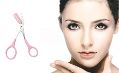 Mini Pink Shaping Eyelash Eyebrow Grooming Cosmetic Tool Brow Class Women Eyebrow Trimmer Groomer pink