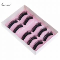 2016 Women Makeup False Eyelashes Soft Long Thick Reusable Eye Lash Ladies Cosmetic False Eyelashes black