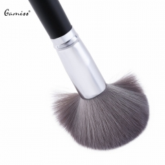 High Quality 100% Non-porous Make Up Brush Soft Single Antibacterial Bamboo Charcoal Fiber Powder black
