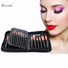 New Arrival Hot Professional 29pcs Animal Hair Cosmetic Makeup Brushes Tool Set with Leather Case as the picture