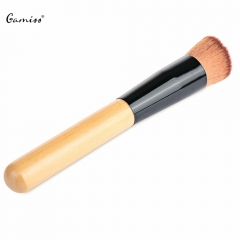 1 PCS High Quality Powder Brush Professional Premium Inclined Design Foundation Powder Wooden Handle as the picture