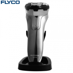 FLYCO FS378 3D Floating Shaver Rechargeable Electric Razor Silver