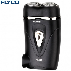 FLYCO FS812 Rotatable Double Head Small Electric Shaver Rechargeable Razor black