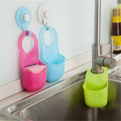 Creative folded silicon suspension kitchen bathroom storage