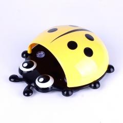 Cute Ladybug Cartoon Sucker Toothbrush Holder Suction Hooks yellow