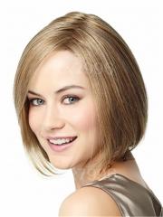 Women's Short Straight Bob Brown Hair Full Wig Cosplay Costume Party + free wig cap sw0144 Brown Medium