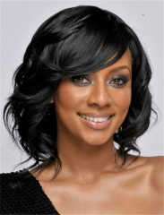Sexy Ladies Short Straight Synthetic Hair Women's Wigs Natural Black Cosplay + free wig cap sw8040 Black Medium