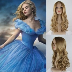 Long Wavy Brown Blonde Cosplay Wig For African Americans Women Synthetic Hair + free wig cap sw8038 brown medium
