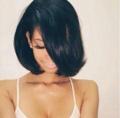 Virgin Short Straight Synthetic Wigs for Black Women False Hair Natural Cosplay + wig cap sw8781 black medium