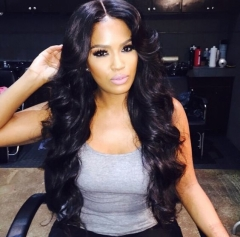 Long Wave Synthetic Black Wigs for Black Women Heat Resistant False Fake Hair + free wig cap sw8807 black medium