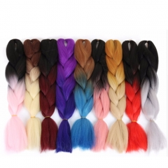 """24"""" Ombre Jumbo Braiding High Quality Synthetic Hair Extension Twist Braids 100g/pc 2C 24"""