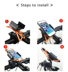 360 Rotating Bicycle Bike Phone Stand for Smart Mobile Cell Phone Black medium