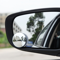 2PCs Car Adjustable Rearview Blind Spot Mirror Round Stick-On Side Wide Angle For Universal Car