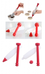 Silicone Plate Pastry Decorating Bakeware Pen for cookie cream Chocolate indispensable tool as the picture