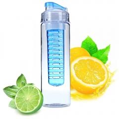 2016 Newest 700ML Fruit Infuser Sports Health Juice Maker Travel Portable Bottles Lemon Juice Maker blue
