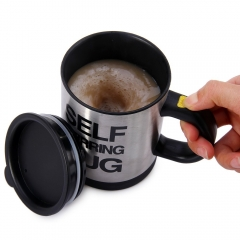 400ML Automatic Coffee Mixing Cup / Mug Drinkware Stainless Steel Coffee Cups Electric Cooking Tool