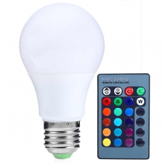 New Arrival RGB Led Spot Bulbs Light E27 15W 150LM Dimmable RGB LED Bulb with Remote Control