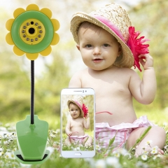 Novelty Sunflower Wireless Wifi Baby Security Camera with Video Two Way Audio Night Vision Function