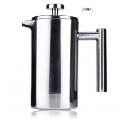 350ML Espresso Coffee Maker Pot Stainless Steel Cafetiere Double Wall Insulated Tea Coffee Maker