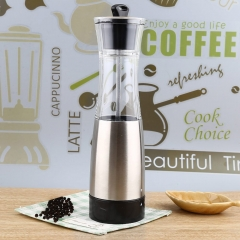 Innovative Electric Pepper Salt Mill High quality modern Stainless Steel Arcylic Kitchen Accessory silver