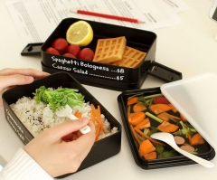 3 Layers Portable Lunch Box Microwave Bento Box Health and Safe Japanese Style Lunch Container black