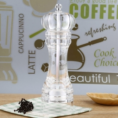 hot sell Arcylic Innovative durable Manual Pepper Salt Spice Mill stylish Kitchen Accessory as the picture