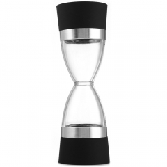 New Dual Grind 2 In 1 Ceramic Core Pepper Salt Spice Seasoning Stainless Steel Circle Grinder Mill as the picture