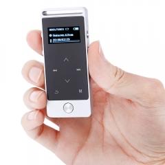 BENJIE S5 Mini OLED Screen 8GB Digital Voice Recorder Lossless HiFi Sound MP3 Audio Player E-book FM silver