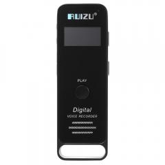 RUIZU X01 1.0 Inch TFT LCD Screen 8GB TF Card Sport Lossless MP3 Music Player Built-in Speaker black