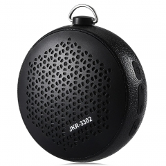 JKR - 3302 Portable Outdoor IPX4 Water-resistant V2.1+EDR Bluetooth Speaker TF Card AUX Music Player black 3w JKR-3302