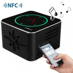 KR - 8100 NFC 3D Sound Wireless Speakers Bluetooth V3.0 Speaker LED Light Loudspeakers Support NFC black 3w KR - 8100 NFC