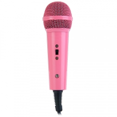 Mini Handheld Wired Condenser Microphone With Single Directivity 3.5mm Plug Microfone Home KTV pink one size none