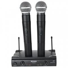 WEISRE PGX - 58 Professional UHF Dual Wireless Handheld Microphone Mic System for Karaoke Party KTV black one size none