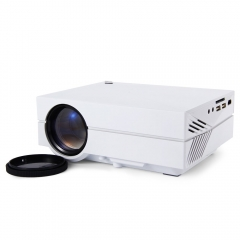 New GM60 Portable 1000LM 800x480 Multimedia Mini Projector With VGA,USB,HDMI,SD Card Slot,Earphone white one size