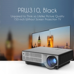PRW310 Mini Projector 2800 1280*800 With Remote Control Projector For Video Games Support HDMI AV black one size