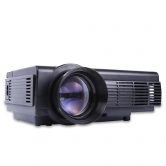 POWERFUL Q5 Quad-core Android 4.4 LCD Projector 800 x 480 Pixels with Miracast WiFi Bluetooth 4.0 black one size