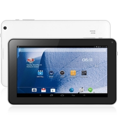 Android 4.4 9 inch WVGA Screen Tablet PC A33 Quad Core 1.3GHz 512MB RAM 8GB ROM OTG WiFi Bluetooth white