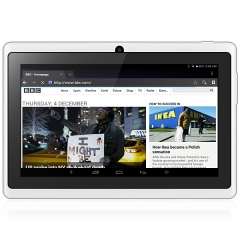 7 inch Q88H A33 Android 4.4 Tablet PC WVGA Screen Quad Core 1.2GHz 512MB RAM 8GB ROM Dual Cameras white
