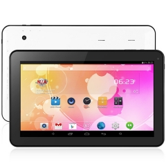 10.1 inch A33 Android 4.4 Tablet PC All Winner A33 Quad Core 1.3GHz WSVGA Screen Cameras 8GB ROM white and black