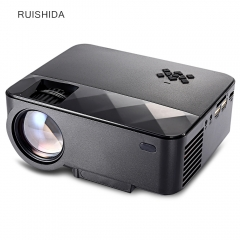 RUISHIDA Portable 1500 Lumens Home LCD Projector black eu plug