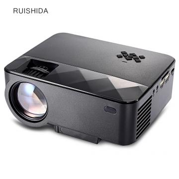 RUISHIDA Portable 1500 Lumens Home LCD Projector black UK Plug