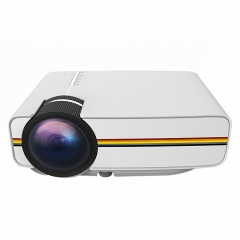 YG400 LCD Projector 1200Lm 800 x 480 Pixels 1080P Home Theater white uk plug