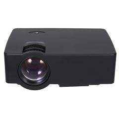 E08 LCD Projector 2500 Lumens 800 x 480 Pixels 1080P Home Theater black eu plug