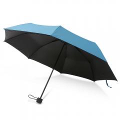 Three Fold Water Blossom Windproof Vinyl Anti-UV Umbrella blue