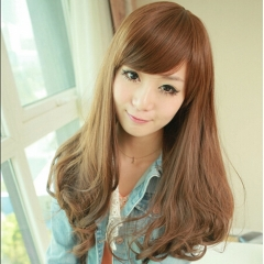 New Fashion Long Curly Wavy Women's Cosplay Full Wigs Party Wig Multi-Color 25