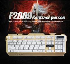 MANTIS Metal 104 Keys Gaming Wired Mechanical Keyboard LED Backlit Anti-Ghosting for Gamer Computer color one size